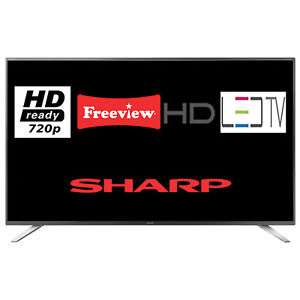 Sharp 32 inch HD ready Freeview tv at Ebay Tesco for £127.20