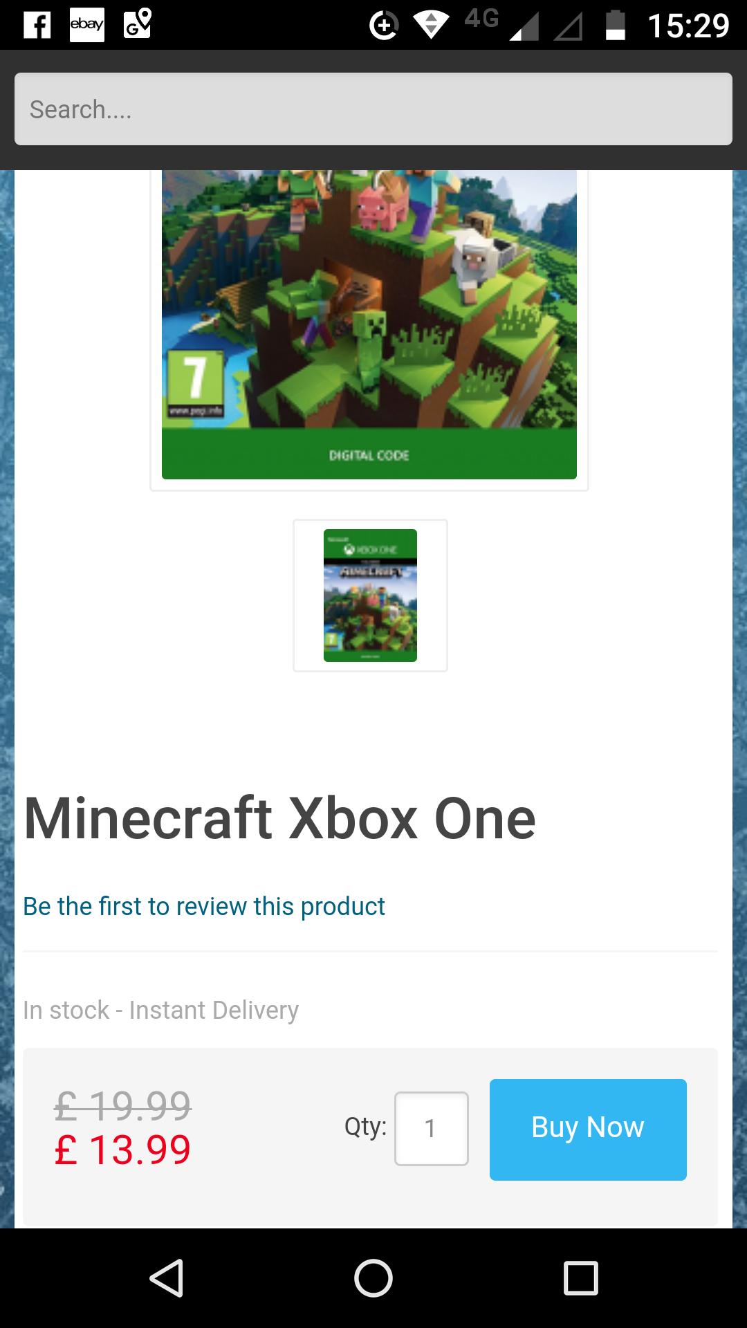 Minecraft Xbox One (digital) at CDKeys for £13.99