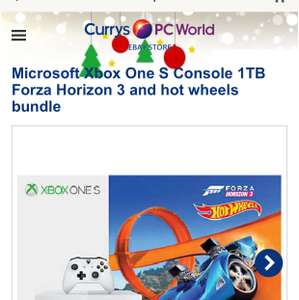 Microsoft Xbox One S Console 1TB Forza Horizon 3 and hot wheels bundle at Currys Ebay for £184