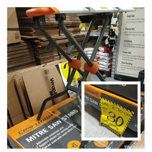 Craftright mitre saw stand Homebase instore for £25.50