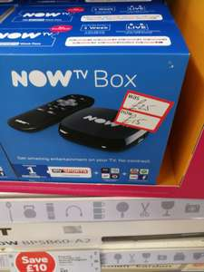 Now TV Box with 1 week Sky Sports Pass at Sainsbury's instore for £15