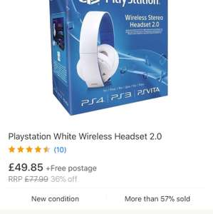 Official PS4 headset wireless at Ebay/Shopto for £39
