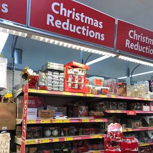 Rows of Christmas Reductions In Morrisons