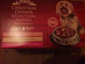 Tescos christmas dogs dinner x6 instore for £1