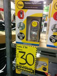 Yale Keyless Digital Lock was £89 now £30 @Homebase Swansea