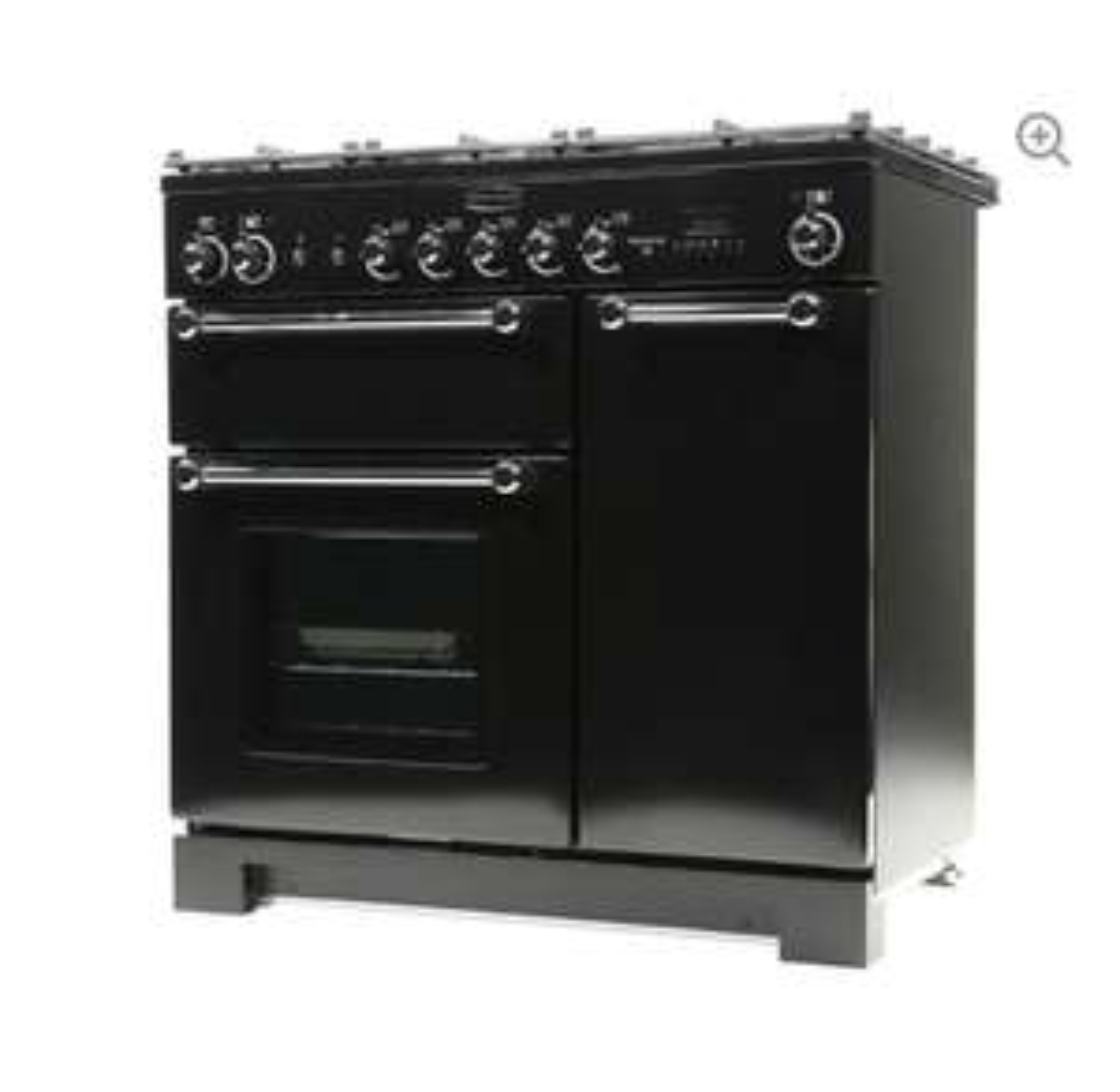 RANGEMASTERKitchener 90 Dual Fuel Range Cooker - Black £899.99 @ Currys