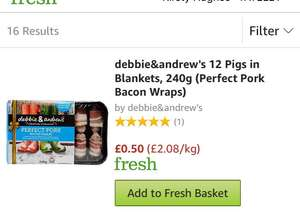 Pigs in blankets flash sale @ Amazon Fresh