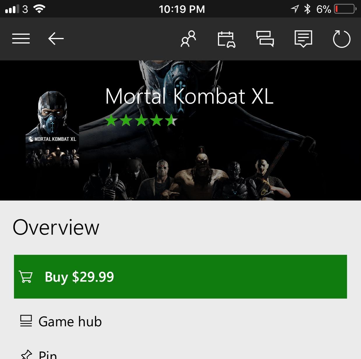 Mortal Kombat XL (Digital) Xbox One £22.31 @ Microsoft