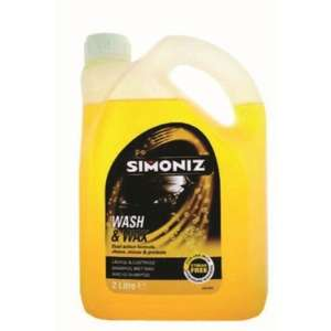 Simoniz wash and wax shampoo 2ltr only 3.81 £ using code box90 @ eurocar parts