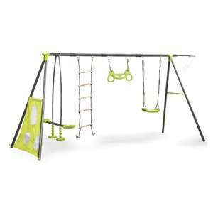 Outdoor Swing Set with 6 Functions at Homebase for £30