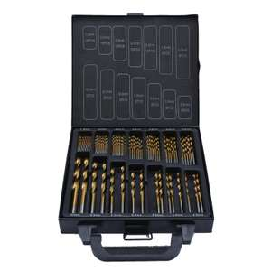 99 piece titanium coated HSS drill bits in metal case at Homebase for £5