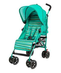 Mothercare Nanu Stroller with Weathershield in Aqua Stripe / Black Stripe / Sand Stripe / Flower was £59 now £35 C+C @ Mothercare (suitable from birth)