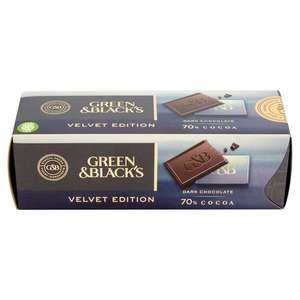 Green & Black's Velvet Edition Dark Chocolate - £1.50 instore in Tesco