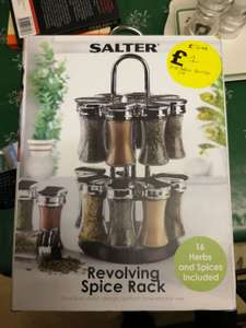 Revolving Salter 16 Herbs & Spices reduced to £1 instore @ Robert Dyas - Stratford Upon Avon