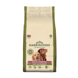 Harringtons Complete dry dog food 5kg £6.50 = £1.30/kg (£10.50 delivered) @ Wilko
