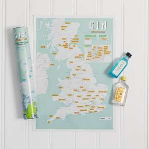 Gin scratch map £9.74 delivered w/code @ Qwerkity