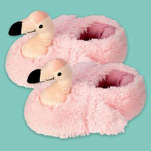 Adults novelty flamingo slippers £12.74 delivered w/code @ Qwerkity
