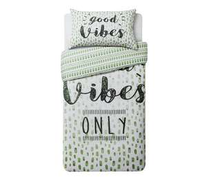 Good vibes single duvet set - £4.99 @ Argos