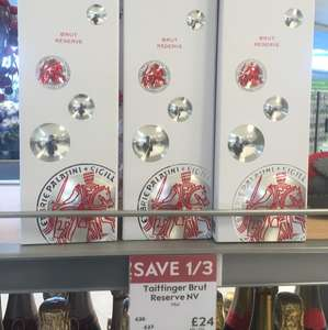 Taittinger Brut Reserve NV 75cl was £36 NOW £24 instore @ Waitrose