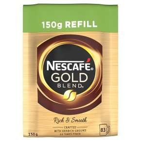 Nescafe Gold Blend 150g Refill - £2.70 with Waitrose PYO