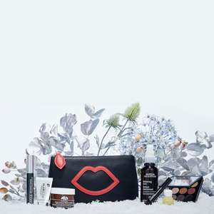 Lulu Guinness X Lookfantastic Makeup Bag (includes MAC, Clinique, Glamglow, Avena products worth £191) now £52 Del with code @ Look Fantastic