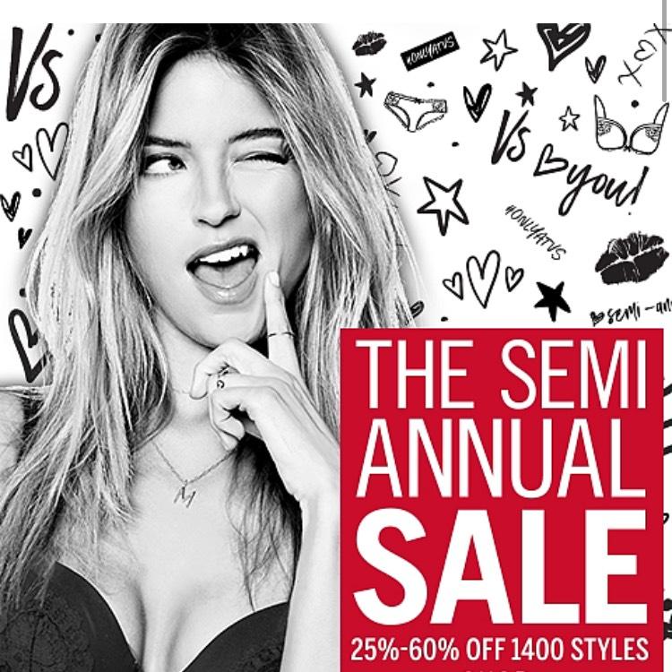 Victoria secret semi annual sale, free delivery over £75 and free returns