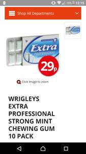 Wrigleys extra professional strong mint chewing gum 10 pack 29p @ poundstretcher