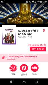 Guardians of the Galaxy Volumes 1 and 2 HD £7.49 (possibly select accounts only) @ Google Play