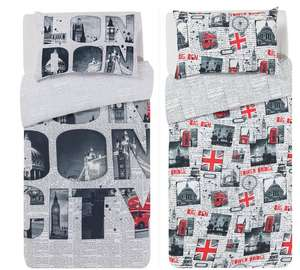 HOME London Twin Pack Bedding Set - Single - £7.49 @ Argos