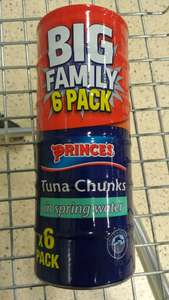 6 tin family pack of Princes Tuna in Spring Water. £2.50 in Tesco