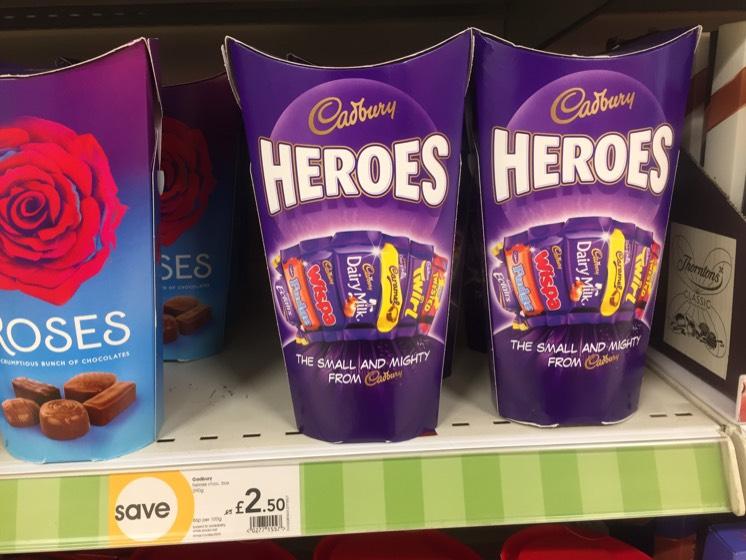 Heroes, Roses, Celebrations.- £2.50 @ Wilko
