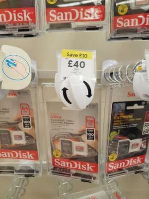 128GB SanDisk Micro SD UHS - £40 instore @ Tesco (Fulbourn)