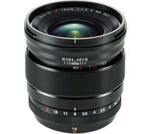 Fujifilm XF 16mm f1.4 lens £729 at Currys (£539 after Fuji double cashback, £478.25 allowing for 10% TCB as well)