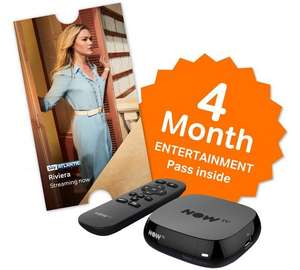 Now tv box with 4 months entertainment and £5.49 sky store voucher. £19.99 @ Argos