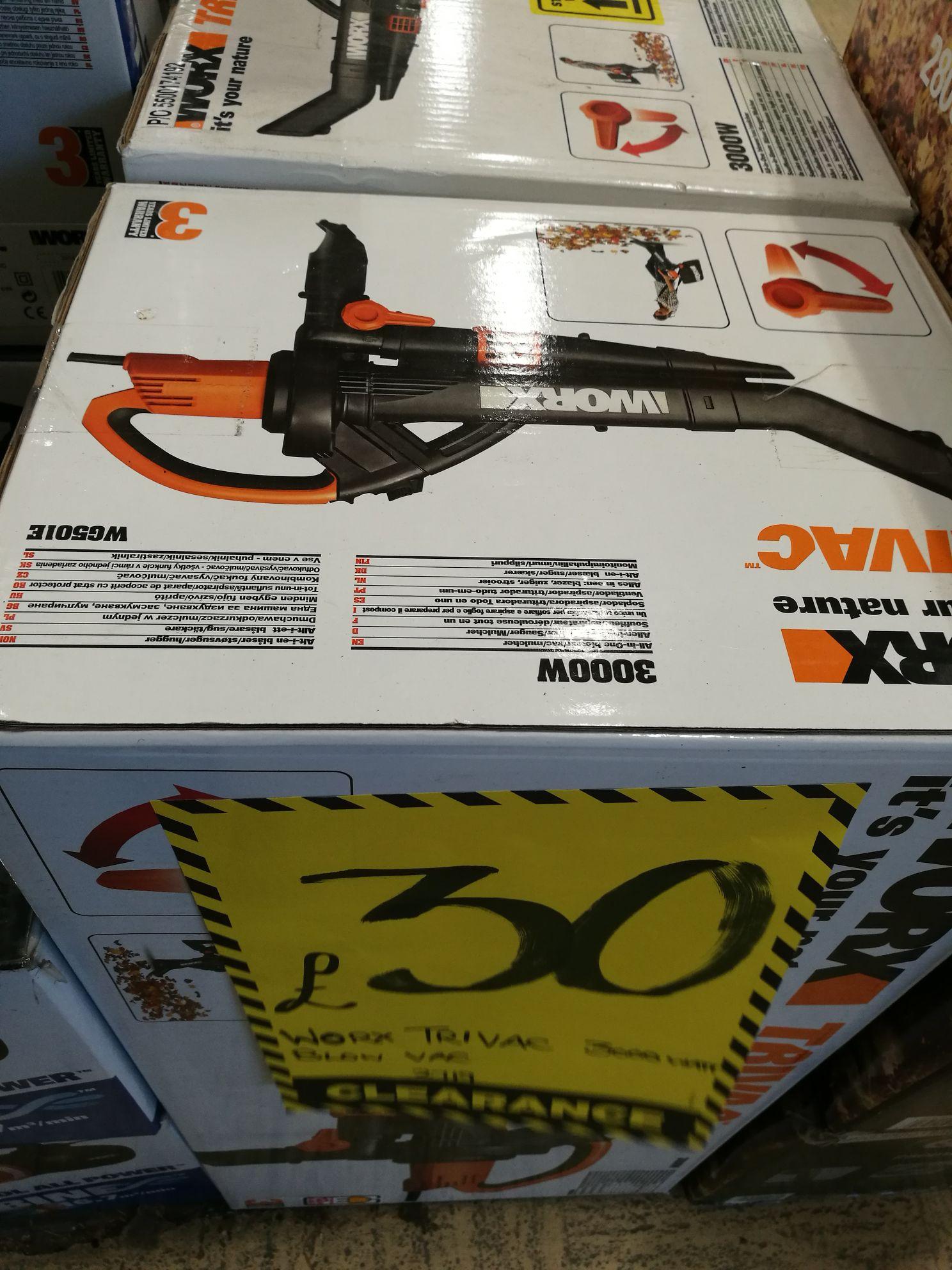 Worx Trivac WG501E blower vac at Homebase for £25.50
