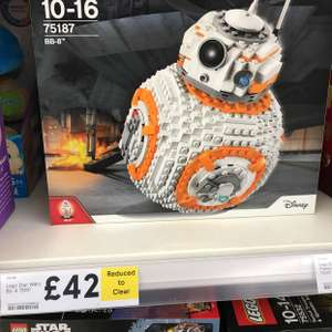 Lego Star Wars BB-8 (75187) reduced from £84 to £42 at Tesco instore