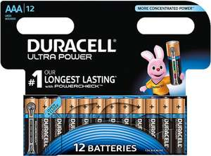 Duracell Ultra AAA Batteries (12 pack) £6 @ Tesco Direct + Free C&C
