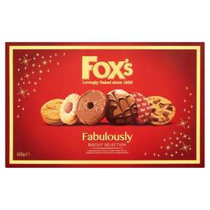 Fox's Fabulously Biscuit Selection 600G reduced to £1 @Waitrose