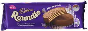 Cadbury Roundie Wafer - 14 x 5-pack (70 biscuits) at Amazon for £18.74 Prime (£22.73 non Prime)