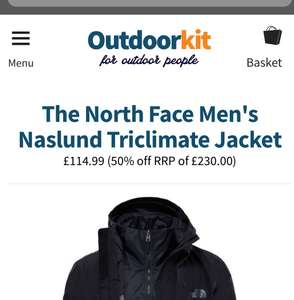 The North Face Men's Naslund Triclimate Jacket at Outdoor Kit for £114.99