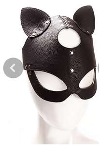 Faux leather cat mask £6 half price. Free C&C at Ann Summers