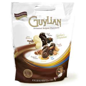 Guylian big pouch Belgian chocs 522g £2.50@ Tesco instore (possibly £1.80 in Sainsburys)