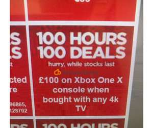 Now Live - £349.99 Xbox One X when bought with any 4K TV at Currys