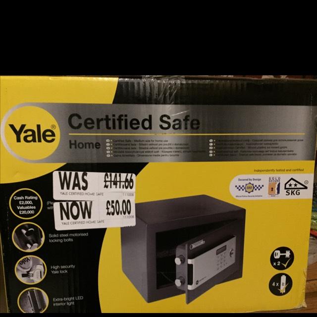 Yale certified safe £50 @ Homebase