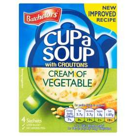 Bachelor's Cup a Soup reduced to 50p (4 Sachet Pack not 3 Sachet Pack) in Asda