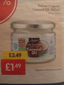 Lidl, Deluxe Raw Organic Extra Virgin Coconut Oil £1.49