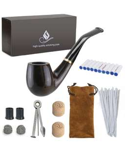 Wooden Tobacco Smoking Pipe with accessories and gift box £18.99 Prime Sold by ZBI and Fulfilled by Amazon.