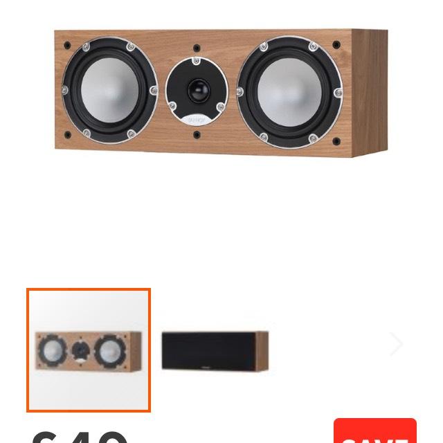 Tannoy MERCURY 7C (Light Oak) Single Centre Speaker £49 @richer sounds