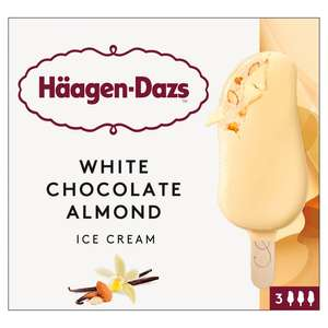 3x Single bars OR 3 pack of Haagen Dazs White Chocolate and Almond Ice Cream Bars £1 INSTORE @Heron Foods