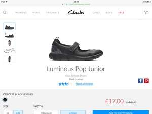 61 % off Clarks black school shoes. (Girls)